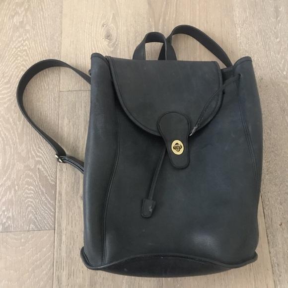 Coach Handbags - vintage 90s navy blue leather coach mini backpack